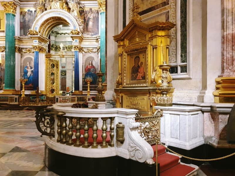 altar en la Catedral de San Isaac