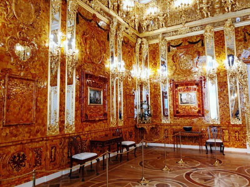 sala de ámbar en el Palacio de Catalina
