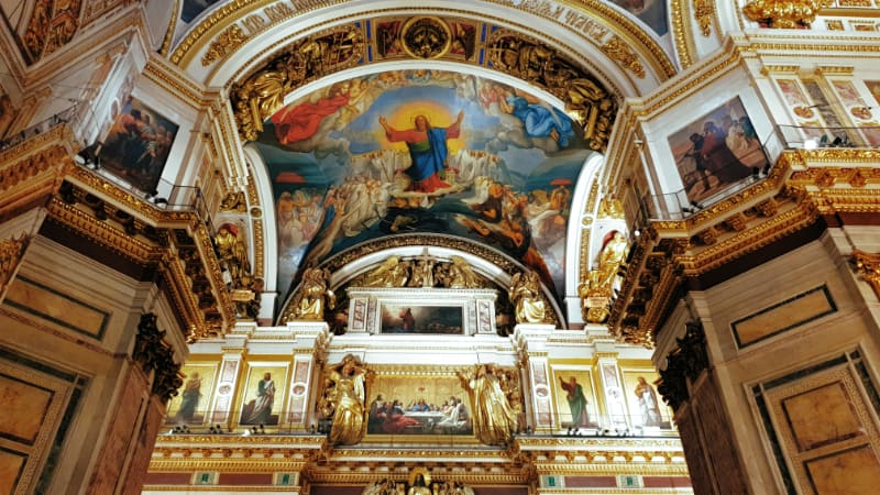 bóvedas en la Catedral de San Isaac